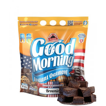 Harina de avena GOOD MORNING Choco BROWNIE 1.5 kg MaxProtein