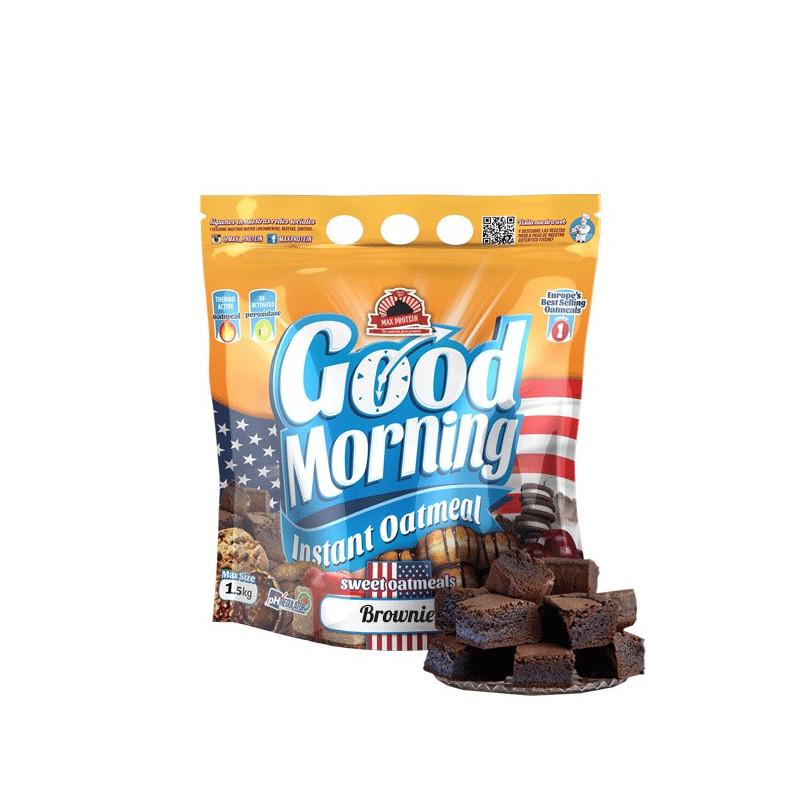 Harina de avena GOOD MORNING Choco BROWNIE 1.5 kg MaxProtein