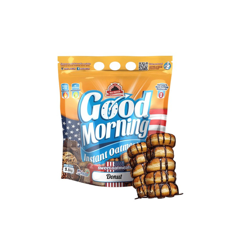 Harina de avena GOOD MORNING DONUT 1.5 kg MaxProtein