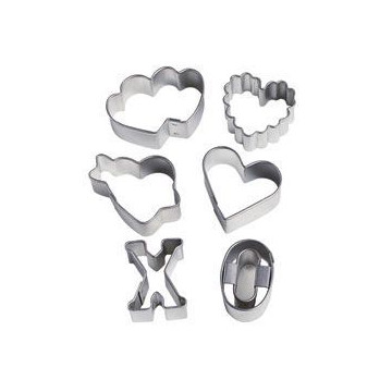 Cortate pack 6 cortantes minis Sweetheart Wilton