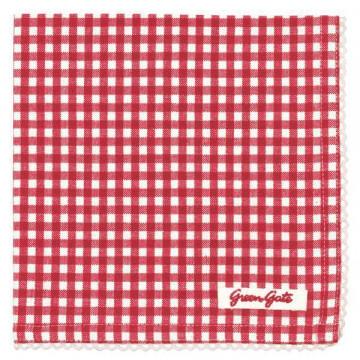 Paño de cocina de tela Vichy Red Green Gate