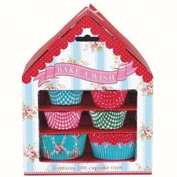 Capsulas cupcakes decorativas House Bake a Whish Green Gate