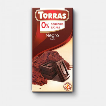 Chocolate Negro 54% 0% azúcar 150g TORRAS