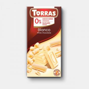 Chocolate Blanco 0% azúcar 75 g TORRAS