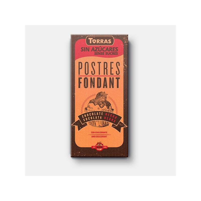 Chocolate Negro para postres 0% azúcar TORRAS