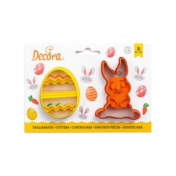 Pack de 2 cortantes Conejo y Huevo Decora Italia