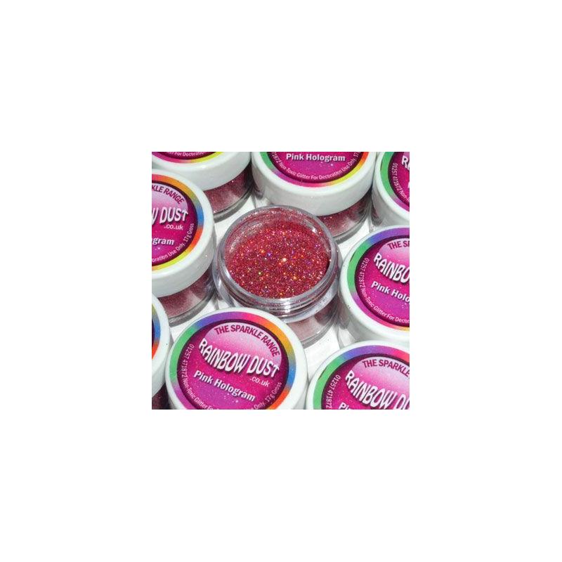 Purpurina fina Pink Hologram Rainbow Dust