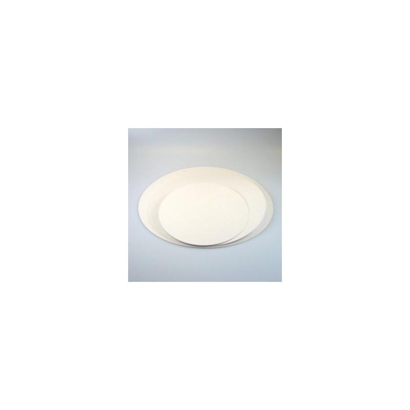 Plato base redondo blanco 16cm