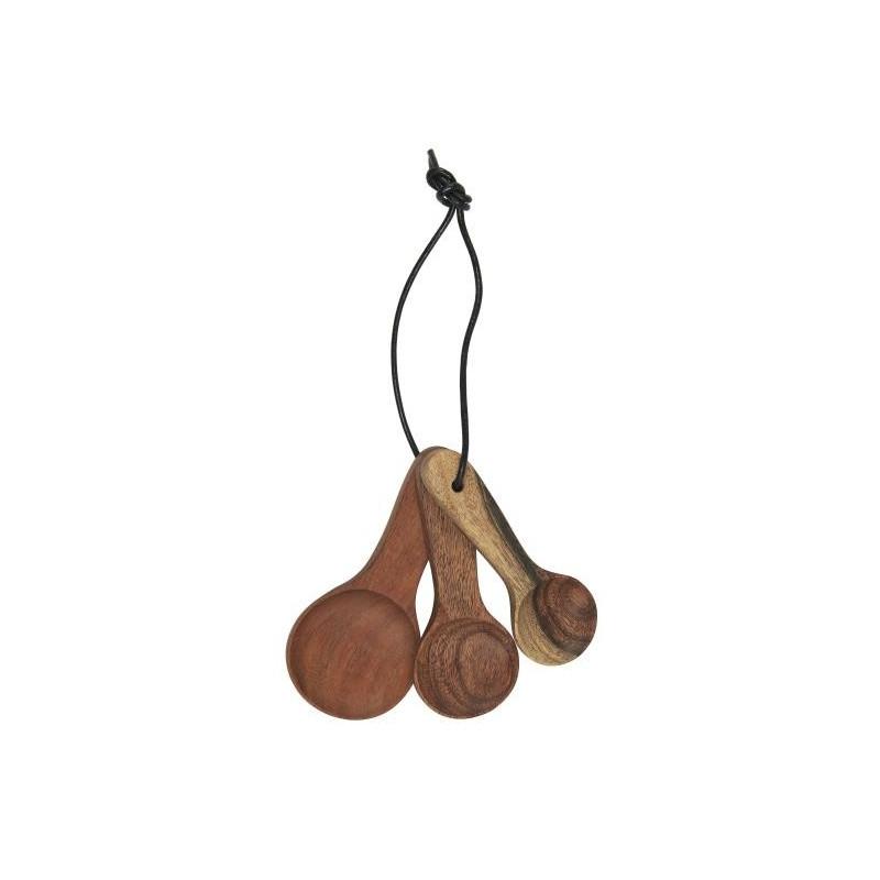 Pack 3 cucharas de madera de Acacia Ib Laursen