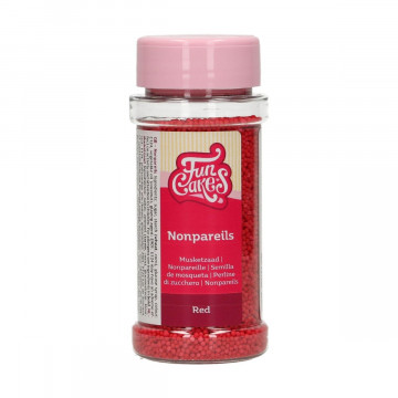 Sprinkles Mini Perlitas Rojo 80 g Funcakes