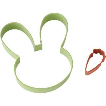 Pack de 2 cortantes Cabeza de conejo y zanahoria Wilton