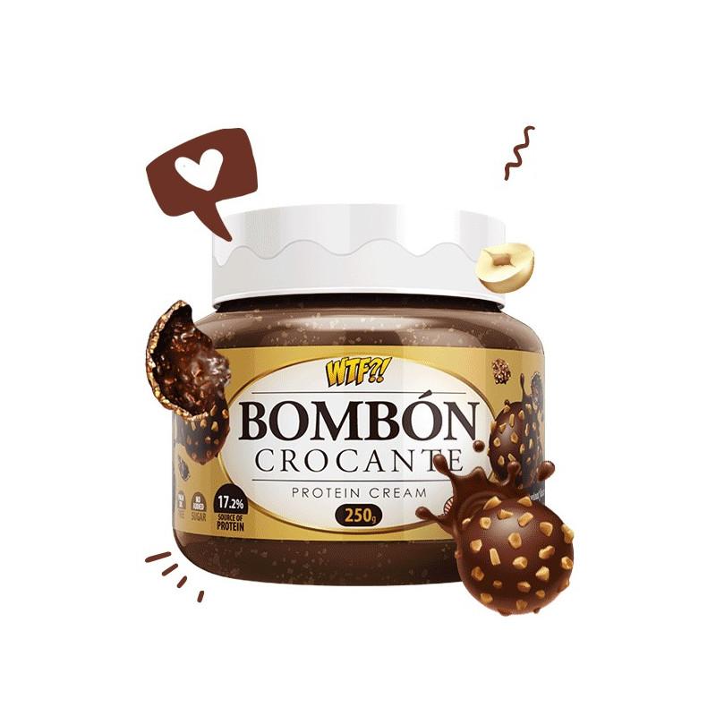 Crema Proteica Bombón Crocante WTF 250 g Max Protein
