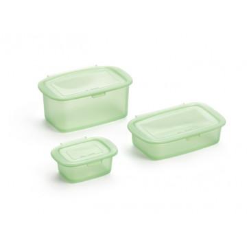 Pack de 3 recipientes reutlizables de silicona Lékué