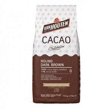 Cacao en polvo 100% ROUND DARK BROWN 1kg Callebaut