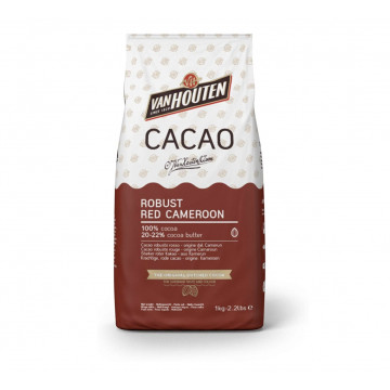 Cacao en polvo 100% ROBUST RED CAMEROON 1kg Callebaut