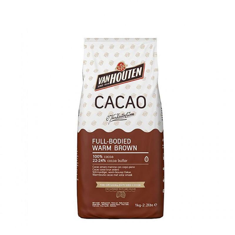 Cacao en polvo 100% FULL-BODIED WARM BROWN 1kg Callebaut