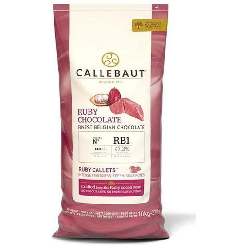 Chocolate RUBY en grageas 10 kg Callebaut