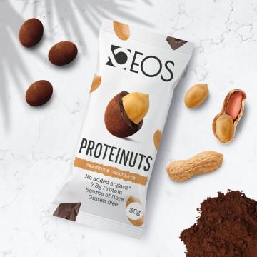 Cacahuetes con Chocolate altos en proteína PROTEINUTS EOS