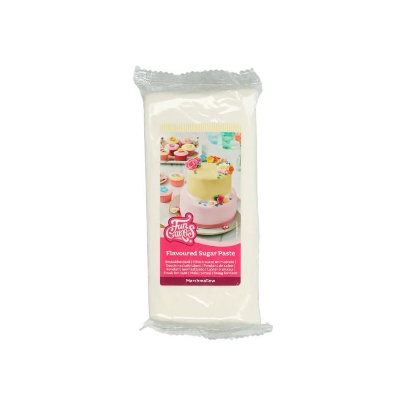 Fondant blanco sabor Marshmallow 1kg Funcakes