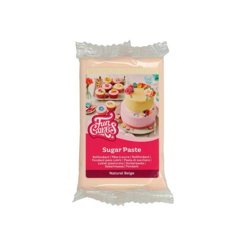 Fondant Beig Natural 250 g Funcakes