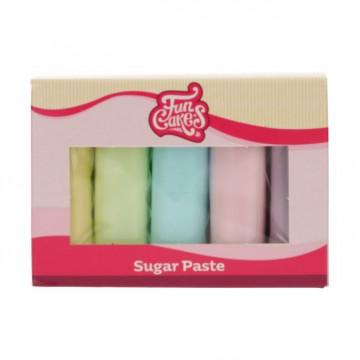 Pack 5 Fondant Colores Pasteles 5x100g Funcakes