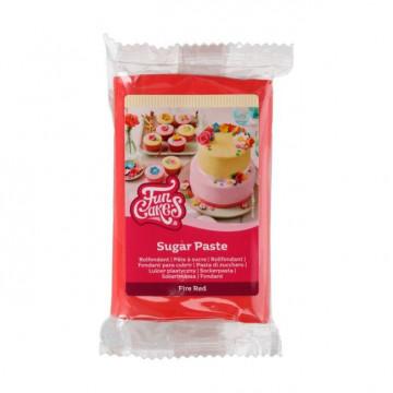 Fondant Rojo 250 g Funcakes