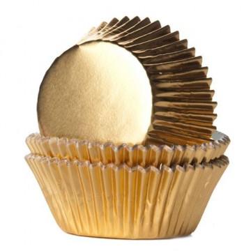 Cápsulas Mini cupcakes Oro House of Marie