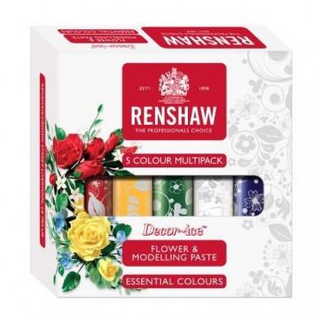 Pack 5 Pasta de Flores Varios Colores 100 g Renshaw