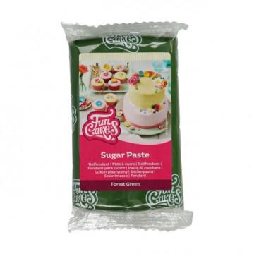 Fondant Verde Bosque 250 g Funcakes