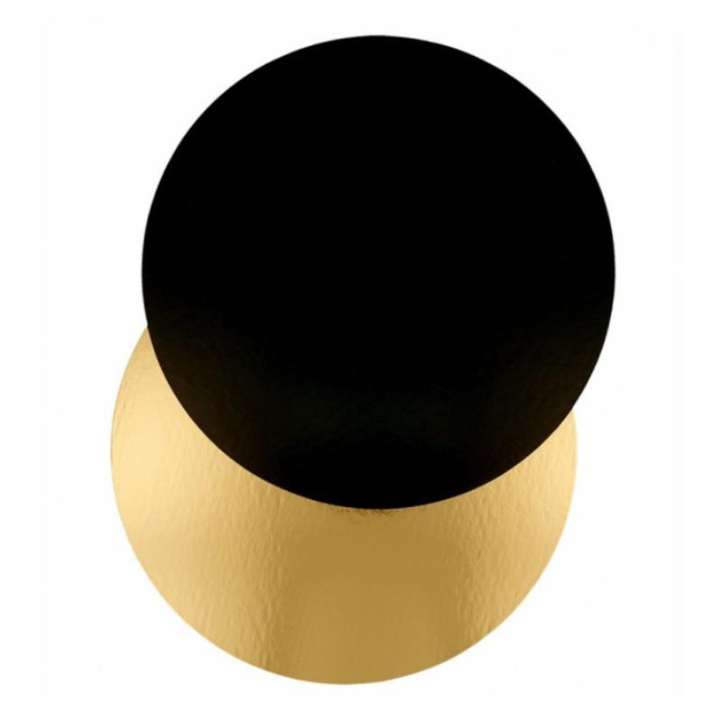 Bandeja redonda 22 cm x 3 mm Oro Negra