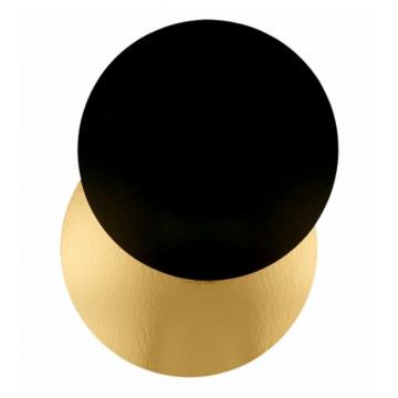 Bandeja redonda 24 cm x 3 mm Oro Negra