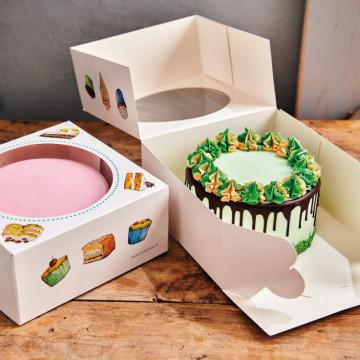 Pack de 2 Cajas 26 cm x 26 cm x 12 cm Funcakes