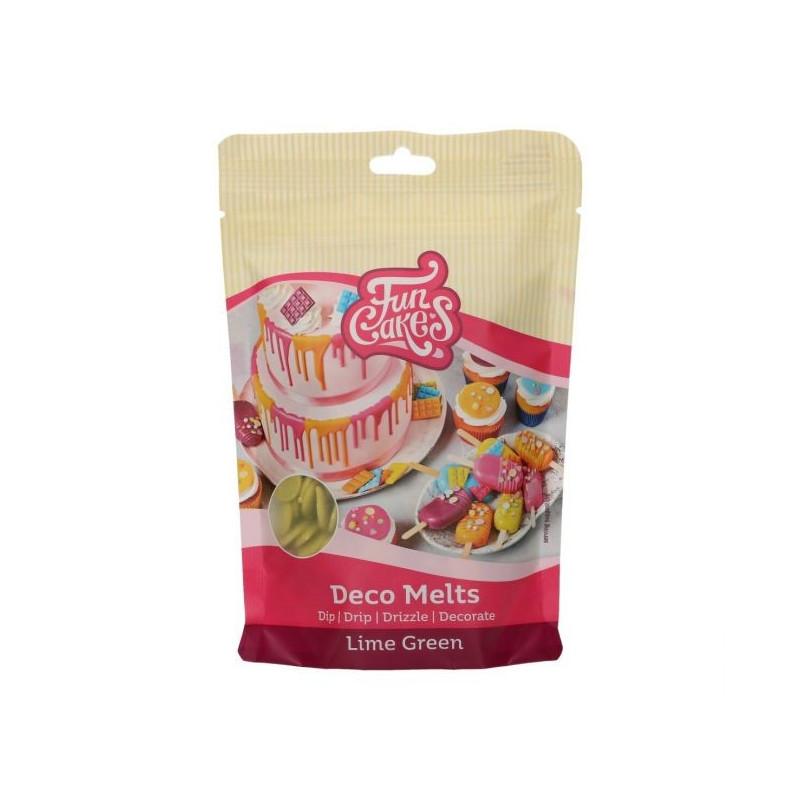 Candy Melt Cobertura de Chocolate Verde Lima 250 g Funcakes