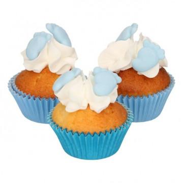 Decoraciones comestibles Pies Bebe Azul Funcakes