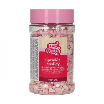 Sprinkles Mix Medley Baby Pink 180 g Funcakes