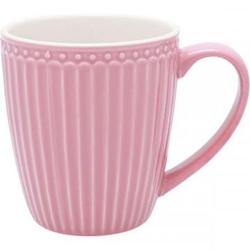 Taza con asa Alice Dusty Pink Green Gate