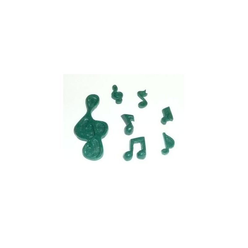 Molde silicona Notas Musicales DPM