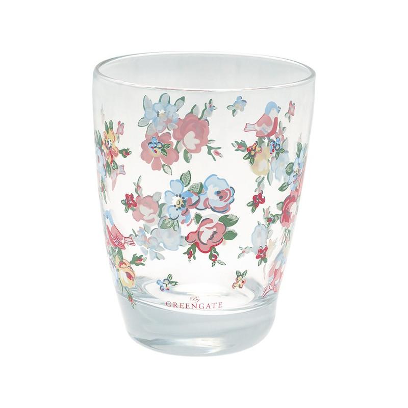 Vaso de cristal Ellie White Green Gate