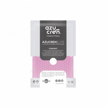 Fondant listo para usar en rosa de 100 gr de Azucren Elite.