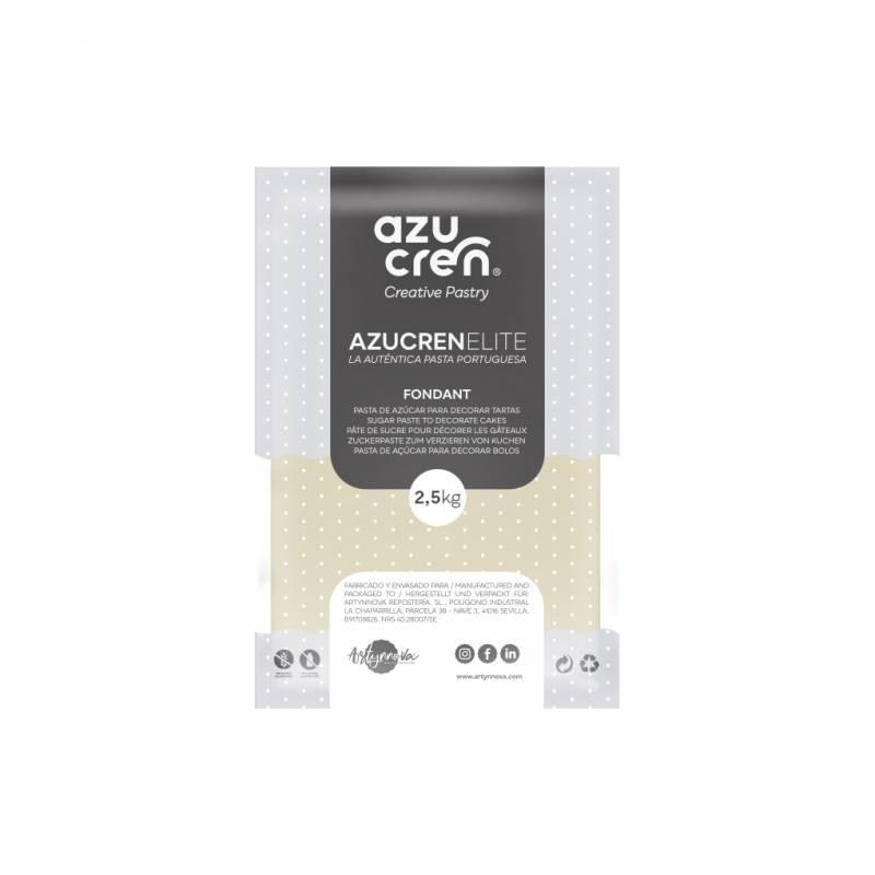Fondant listo para usar en blanco perla de 2.5 kg de Azucren Elite.