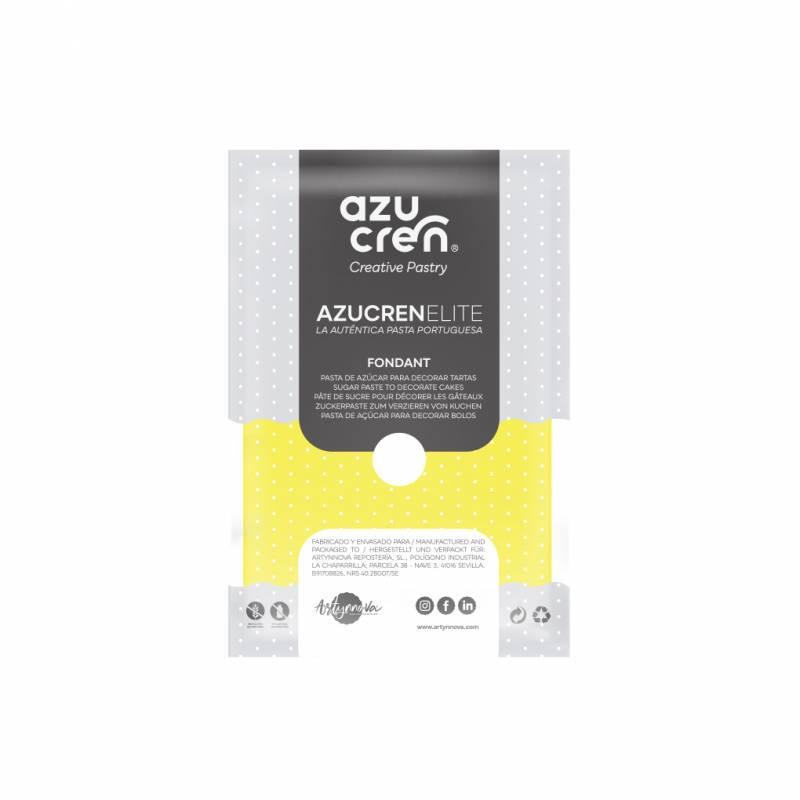 Fondant listo para usar en amarillo limón de 250 gr de Azucren Elite.