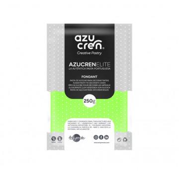 Fondant listo para usar en verde fluorescente de 250 gr de Azucren Elite.