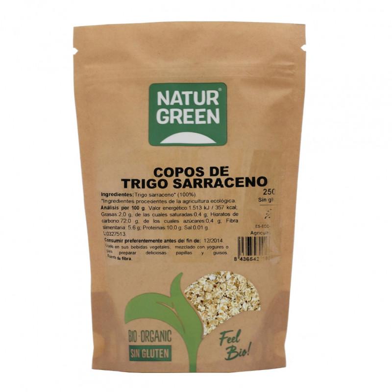 Copos de Trigo Sarraceno Bio Sin Glutén 250 g NaturGreen