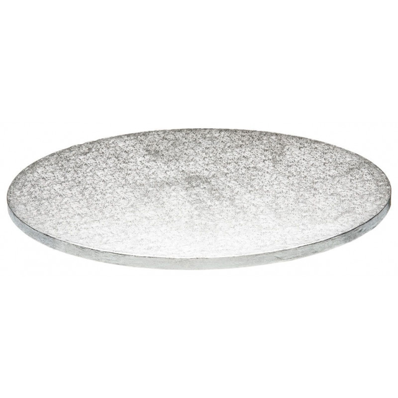 Bandeja presentación redonda plata 35,5 cm