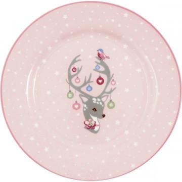 Plato de cerámica 20 cm Kids Diana Pale Pink Green Gate