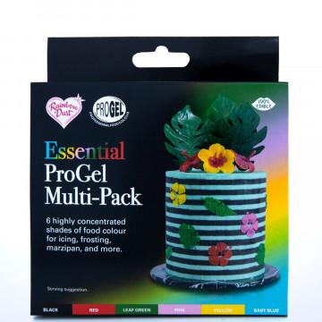 Pack de 6 Colorantes en gel Multipack Essentials Progel