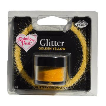 """Purpurina comestible Amarillo Oro """"golden yellow"""" 5gr. Rainbow Dust"""