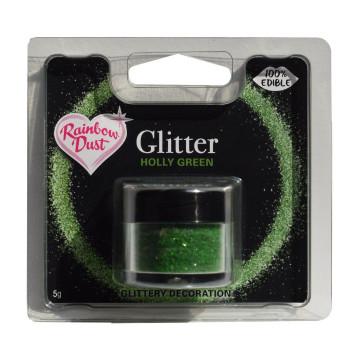 """Purpurina comestible Verde Acébo """"Holly Green"""" 5gr. Rainbow Dust"""