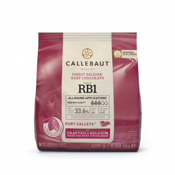 Chocolate RUBY en grageas 400 g Callebaut