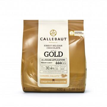 Chocolate GOLD en grageas 400 g Callebaut